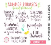 hand written summer lettering... | Shutterstock .eps vector #631681508