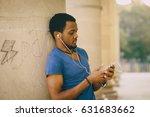 black guy walking in summer...   Shutterstock . vector #631683662