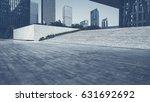 empty brick road nearby office... | Shutterstock . vector #631692692