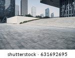 empty brick road nearby office... | Shutterstock . vector #631692695