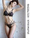 beautiful sexy lady in elegant...   Shutterstock . vector #631700546