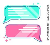 phone messages  sms  dialog box ... | Shutterstock .eps vector #631705406