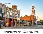 main street of quaint usa small ... | Shutterstock . vector #631707398