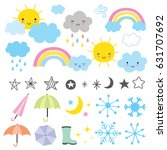vector illustration of weather... | Shutterstock .eps vector #631707692