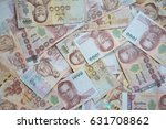 close up of one thousand... | Shutterstock . vector #631708862