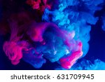 motion color drop in water ink... | Shutterstock . vector #631709945