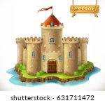 castle  3d vector icon | Shutterstock .eps vector #631711472