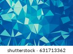 abstract low poly background ... | Shutterstock . vector #631713362