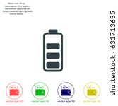 battery   vector icon | Shutterstock .eps vector #631713635