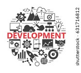 seo and development icon set.... | Shutterstock .eps vector #631716812