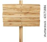 old wooden billboard. isolated... | Shutterstock . vector #63171886