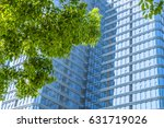 modern office building with... | Shutterstock . vector #631719026