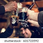 craft beer booze brew alcohol...   Shutterstock . vector #631723592