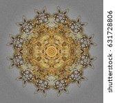 abstract oriental mandala frame ... | Shutterstock .eps vector #631728806