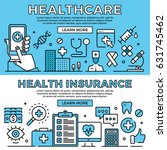 healthcare  health insurance... | Shutterstock .eps vector #631745462