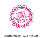 mother's day card in doodle... | Shutterstock .eps vector #631746935