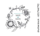 save the date card with a... | Shutterstock .eps vector #631766792