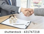 house developers and customers...   Shutterstock . vector #631767218