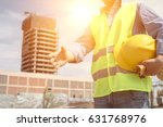 construction workers at the site | Shutterstock . vector #631768976
