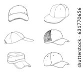 vector set of sketch baseball... | Shutterstock .eps vector #631770656