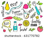 hand drawn healthy food doodle... | Shutterstock .eps vector #631770782