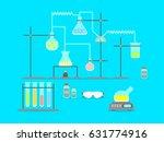 cartoon chemical laboratory... | Shutterstock .eps vector #631774916