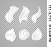 white cream elements.... | Shutterstock .eps vector #631784816