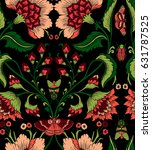 seamless pattern with fantasy... | Shutterstock .eps vector #631787525