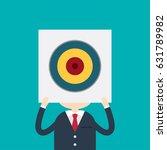 businessman holding a poster... | Shutterstock .eps vector #631789982