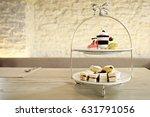 afternoon tea set high tea set... | Shutterstock . vector #631791056