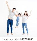 happy asian family standing... | Shutterstock . vector #631793438