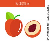 peach vector illustration. | Shutterstock .eps vector #631803368