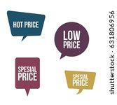 bubble speech set in vector and ... | Shutterstock .eps vector #631806956
