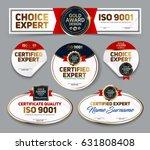 set of vector mini certificate... | Shutterstock .eps vector #631808408