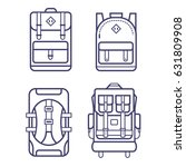 different types of backpacks in ... | Shutterstock .eps vector #631809908