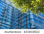 modern office building with... | Shutterstock . vector #631810022