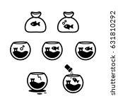 fish bowl icono set   Shutterstock .eps vector #631810292
