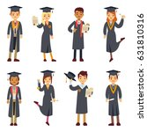 young college graduate and... | Shutterstock .eps vector #631810316