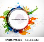 futuristic colorful vector... | Shutterstock .eps vector #63181333