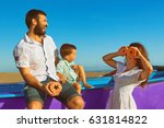 happy funny family   father ... | Shutterstock . vector #631814822
