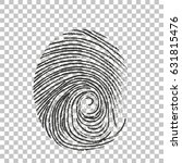 fingerprint icon | Shutterstock .eps vector #631815476