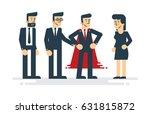 super businessman with team....   Shutterstock .eps vector #631815872