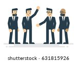 team of business people with...   Shutterstock .eps vector #631815926
