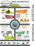 road travel infographic. car... | Shutterstock .eps vector #631819166