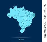 map of brazil | Shutterstock .eps vector #631821875