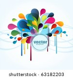 abstract background with splash ... | Shutterstock .eps vector #63182203