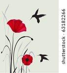 Hummingbirds And Poppies. Jpeg...