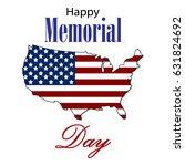 vector happy memorial day card. ... | Shutterstock .eps vector #631824692