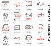 vector set of linear icons... | Shutterstock .eps vector #631825175