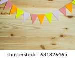 garland of colorful flags on... | Shutterstock . vector #631826465